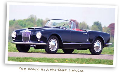 Top Down in a Vintage Lancia