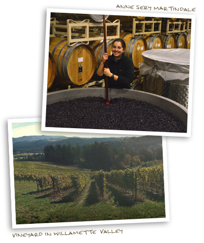 Anne Sery Martindale & a Vineyard in Willamette  Valley