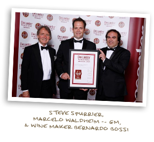 Steve Spurrier,  Marcelo Waldheim -- GM, & Wine Maker Bernardo Bossi