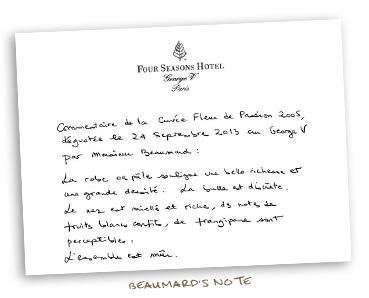 Beaumard's Note