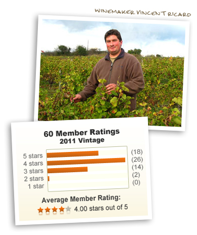 Winemaker Vincent Ricard & 4 out of 5 stars!