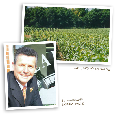 Lallier Vineyards and Sommelier Serge Dubs