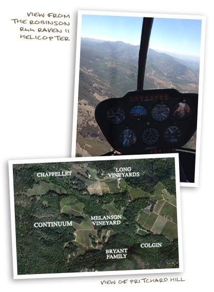 View From the Robinson R44 Raven II Helicopter and View of Pritchard Hill