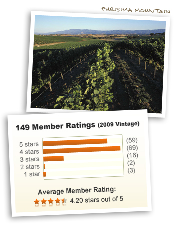 Purisma Mountain and 2009 Vintage -- 4.20 stars out of 5!