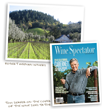 Robert Keenan Winery and Tom Seaver on the cover of the Wine Spectator