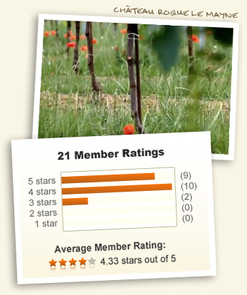 Chateau Roque le Mayne and 4.33 out of 5 stars!