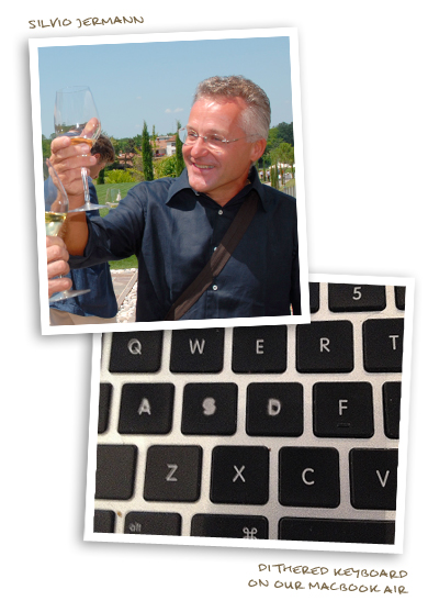 Silvio Jermann and The Dithered Keyboard on our Macbook Air