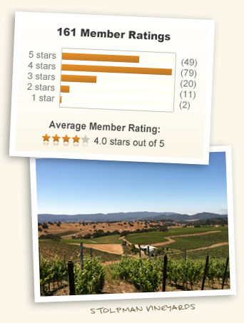 4.00 out of 5 stars! & Stolpman Vineyards!